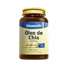 Seed Oil Oleo De Chia 500mg - 60 Cápsulas - Vitaminlife