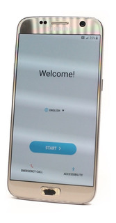 Celulares Galaxy S7 32gb Gold Reacondicionado Detalle Boton