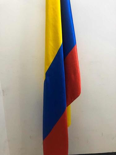 Imagen 1 de 4 de Bandera De Colombia, Doble Faz Satinada. 1.50 Mtrs X 2:00 M.