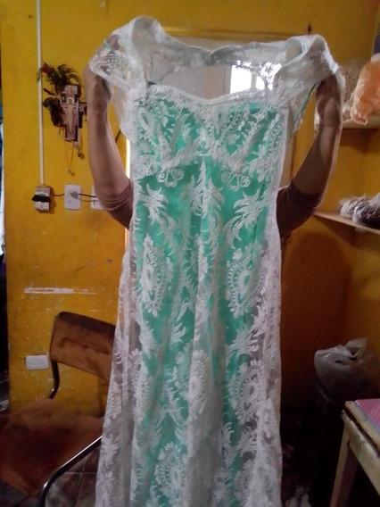 Vestido De Novia Verde Claro