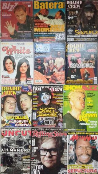 12 Revistas De Rock Diversas White Stripes Roadie Crew