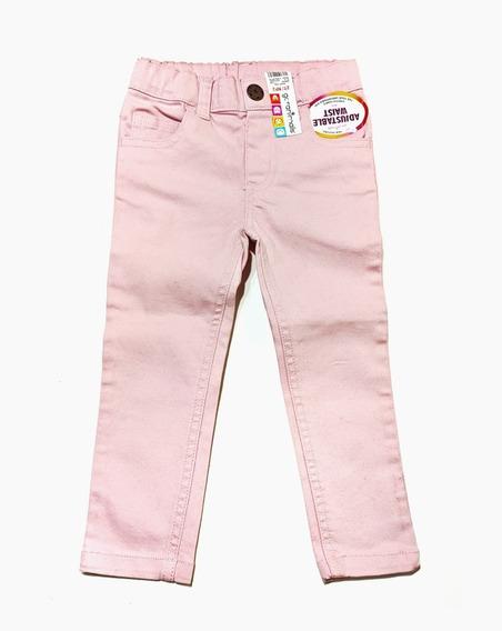 Pantalón Jean Rosado Para Niñas Talla 2t / Np2