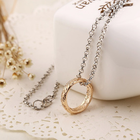 Anél + Colar O Senhor Dos Anéis Dourado