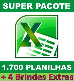 1700 Planilhas Em Excel - Super Pacote 100% Editável