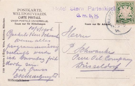 Alemania 1906 Carta Postal Con Estampilla Al48