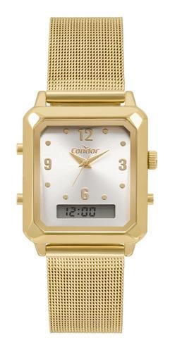 Relógio Condor Feminino Cobj3718ab/4k Ana Digi Quadrado