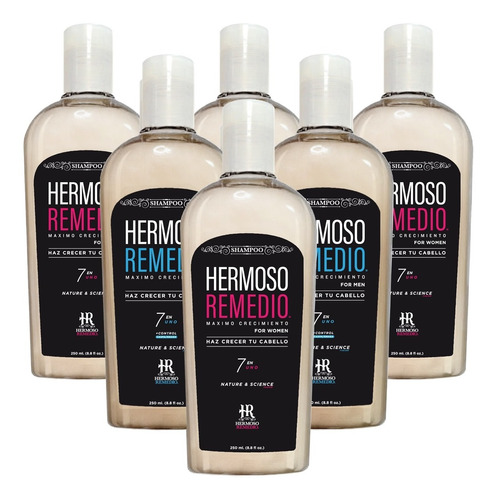 6 Shampoo Crecimiento Anticaída Reparador 7en1 Paquete Mixto