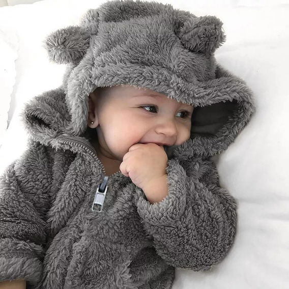 Blusa De Bebê Microfibra Chumbo Unissex Importada
