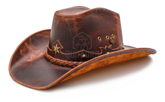 Chapeu Country Masculino E Feminino Americano Cowboy Couro
