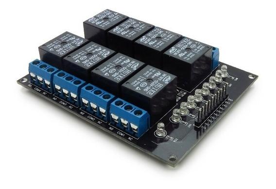 Módulo Relé 8 Canais 5v 10a Arduino Pic (1061)