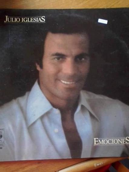 Disco Vinilo Emociones Julio Iglesias.-