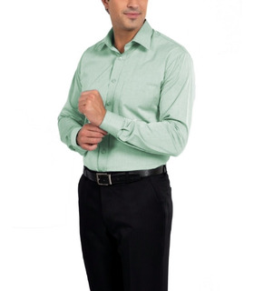 Camisa Social Masculina Manga Longa Branca Uniforme