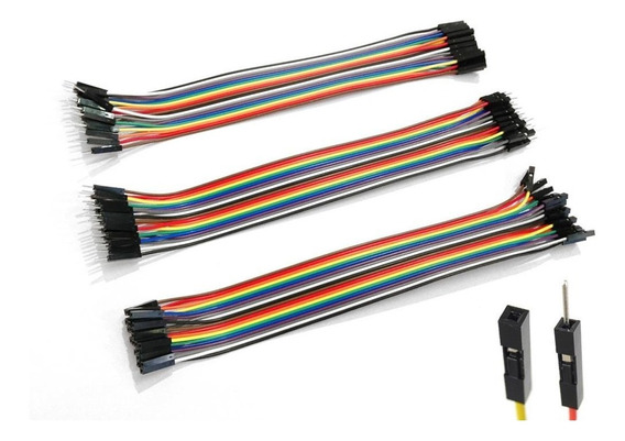 Kit Jumper 20cm 60 Peças Mxf Mxm Fxf Arduino Cabinho Wire