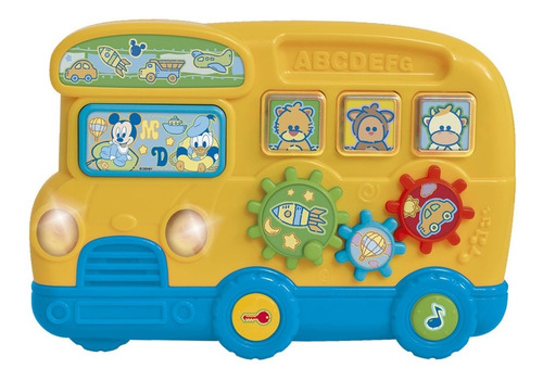 Juguete Didactico Bebes Autobus Musical Disney Baby Ditoys