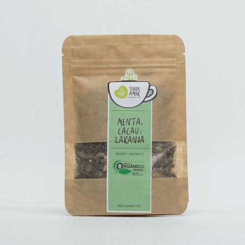 Chá Misto Menta, Cacau E Laranja Orgânico 15g (01 Unidade)