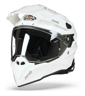 Casco Airoh Commander Color White Gloss (on-off) Moto