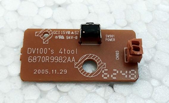 Placa Sensor Ir Dvd Lg Dk140 6870r9982aa