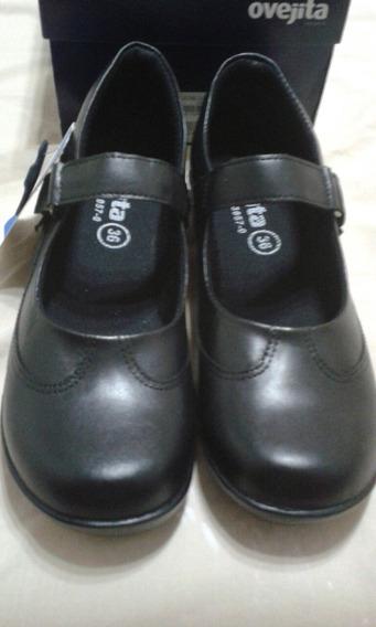 Zapato Escolares Marca Ovejita Puro Cuero Talla 28 A La 40