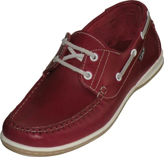 Zapatos Náuticos Sport Color Para Hombre 100% Cuero Legítimo