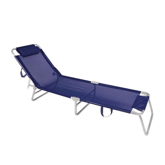 Cadeira Espreguiçadeira Alumínio 4 Posições Marinho - Mor