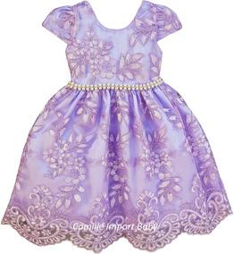 ad269bd3ae Vestido Festa 1 Ano Rosa - Vestidos Meninas De Festa Azul violeta no ...