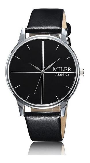 Relógio De Pulso Miler A8297-03 Masculino Original