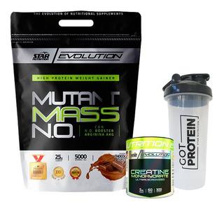Mutant Mass Star Nutrition X 5 Kg + Creatina 300 Gr + Vaso