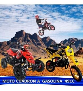 Moto Y Cuadron 433 A Gasolina 49cc 2 Tiempos Niños Desde