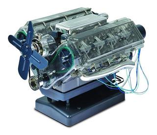 Kit Juguete Elaborar Propio Motor V8 Para Niños