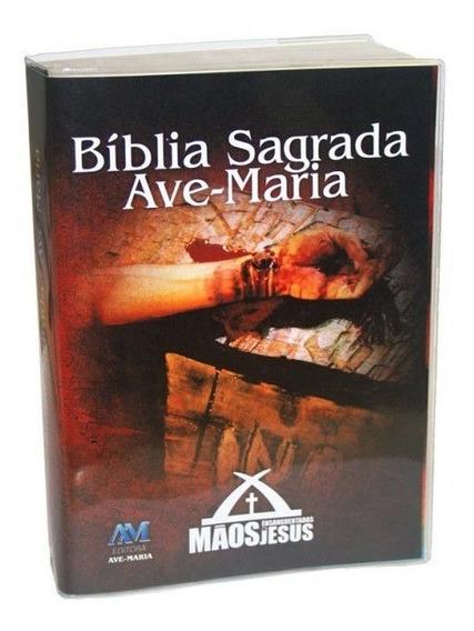 Bíblia Catolica Mãos Ensanguentadas De Jesus Ave Maria