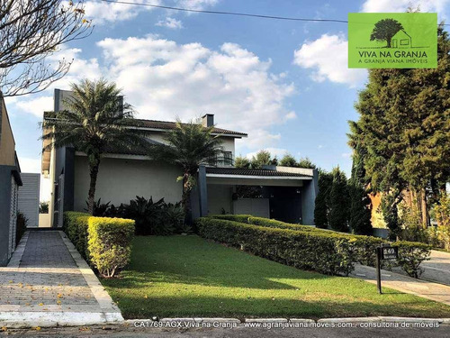 Casa Com 4 Dormitórios À Venda, 559 M² Por R$ 1.990.000,00 - Granja Viana - Jandira/sp - Ca1769