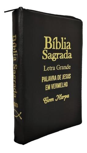 Bíblia Sagrada Letra Grande Com Indice E Harpa Cristã