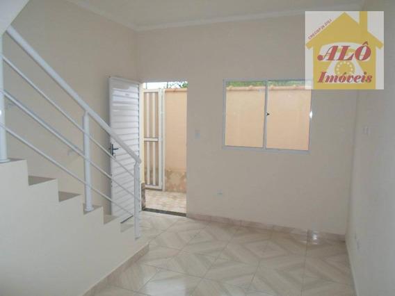 Sobrado Com 2 Dormitórios À Venda, 50 M² Por R$ 158.000,00 - Balneário Japura - Praia Grande/sp - So0175