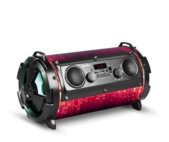 Caixa De Som Portátil Bluetooth Karaokê Com Microfone 40w