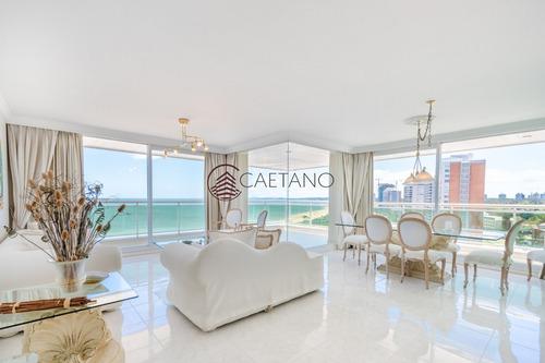 Coral Tower Esquinero Frente Al Mar Punta Del Este Apartamento En Alquiler- Ref: 2663