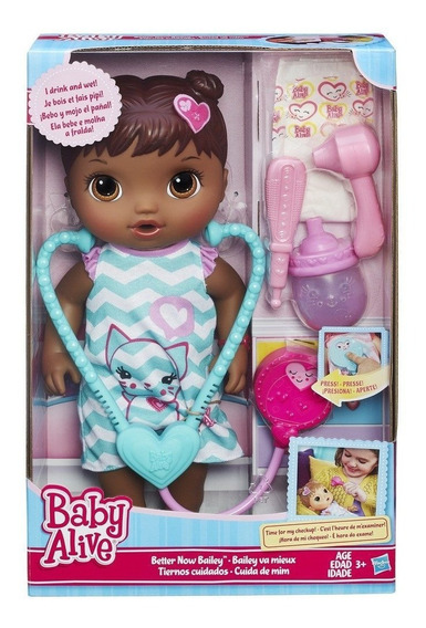 Boneca Baby Alive Cuida De Mim Negra - B5160 - Hasbro