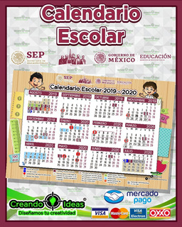 Lona Calendario Escolar 2019-2020 #creandoideasveracruz