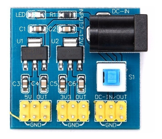 Módulo Fonte Dc-dc 12v Saida 5v - 3.3v - Arduino Nodemcu Esp