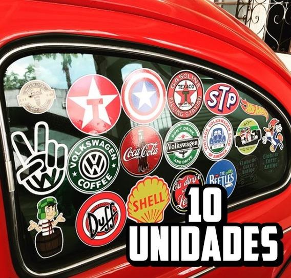 Colantes Vintage Carro Antigo Fusca Gm Vw Fiat Ford (10un)