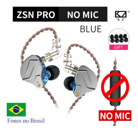 Fone Kz Zsn Pro Sem Mic Original New Lacrado No Brasil