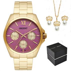 Kit Relógio Orient Multifunção Fgssm050 R3kx Original + Nf