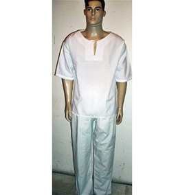 Conj Raçao Masc/ Oxford/candomblé/umbanda/roupas Simples