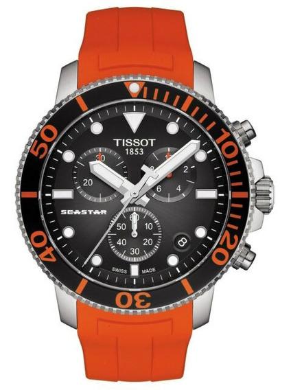 Relogio Tissot Novo T1204171705101 Seastar 1000 Laranja