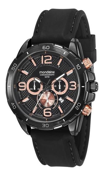 Relógio Masculino Mondaine 53626gpmvpi2 48mm Silicone Preto