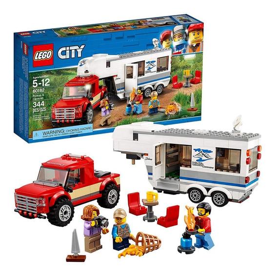 Grandes Vehículos Camión Y Casa Rodante Lego City 60182 344p