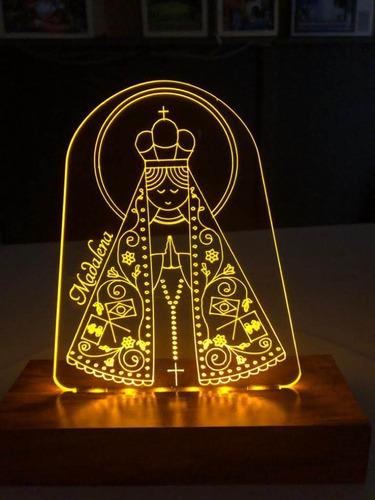 Luminaria Led 3d Religiosos, Nossa Senhora Aparecida,