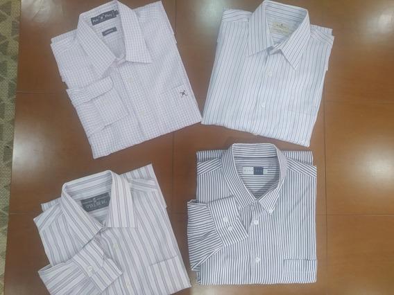 Lote 4 Camisas Tam G Masc Brooksfield Polo Play E Outras