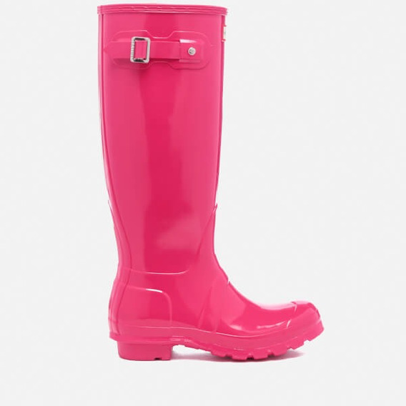Hunter Boots Originales Altas Bright Pink Gloss. Rosas Altas