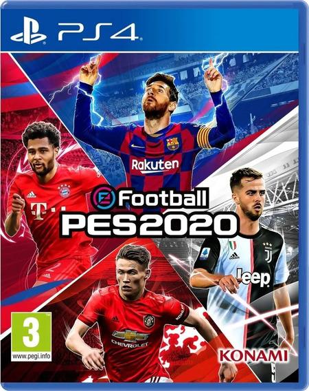 Jogo Efootball Pes 2020 Ps4 Mídia Fisica Novo Lacrado + Nf