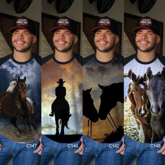 Camiseta Blusa Animal Cavalo Masculina